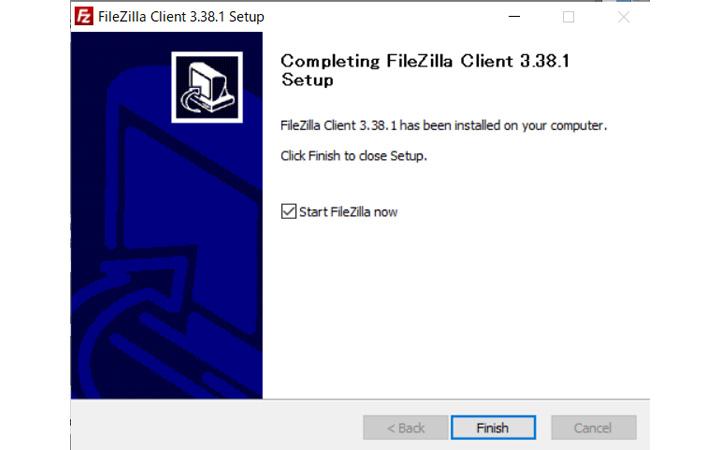 File Zilla 公式サイトからインストール