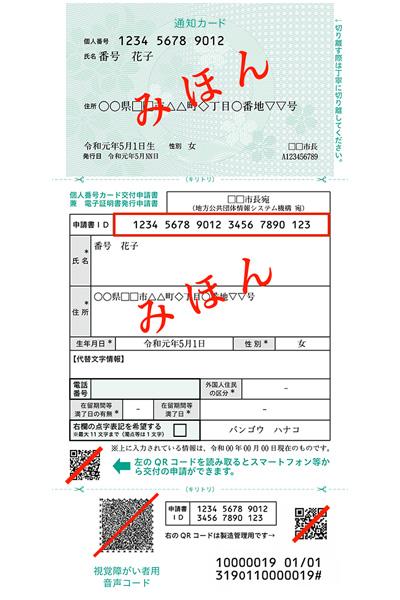 申請書ID見本